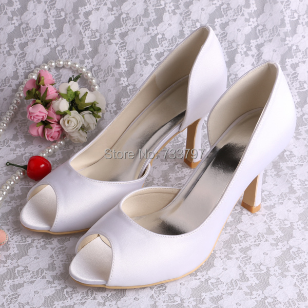 (20 Colors) Peep Toe Payless Shoes Women White Wedding Sexy Women Pumps Drop Shipping(China (Mainland))
