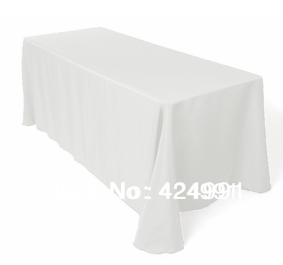 10pcs Top Quality Rectangle Polyester Plain Table Cloth 160cm x320cm For Wedding &Hotel&Banquet(China (Mainland))