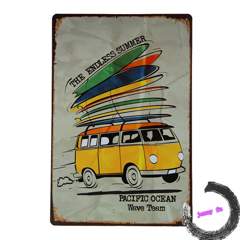 Vintage Metal/Tin sign Kombi Bus ENDLESS SUMMER Car Pub Home Wall Decor Craft iron Painting <I57,8*12inch>(China (Mainland))