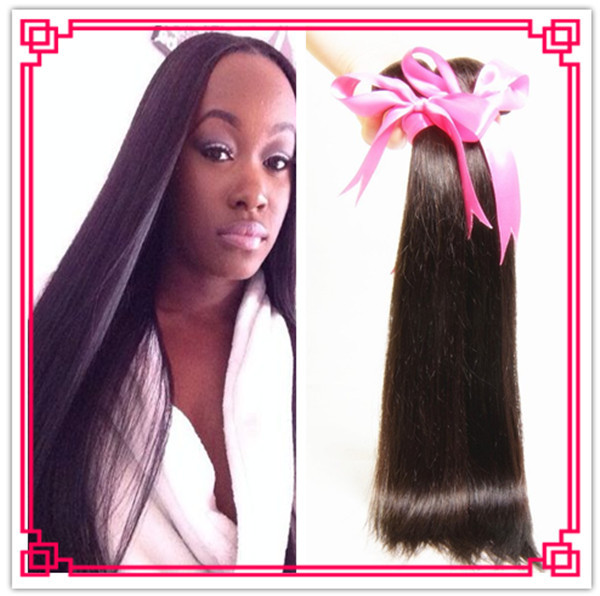 3 Bundles Malaysian Straight Hair 100% Virgin Malaysian silk Straight Human Hair Weave Extension Unprocessed Remy Hair