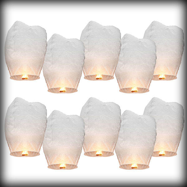 by dhl or ems 500pcs White Paper Chinese Sky Lanterns Wishing Lamp Balloon for Birthday Wedding Party(China (Mainland))