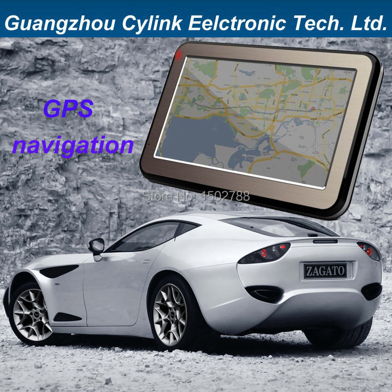 4.3 inch touch screen car gps navigation 128M +4G good quality navigator with world map many different languages(China (Mainland))