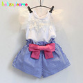2 Piece 0 7Years Summer Style Baby Girls Outfit Kids Clothes Suit Sweet Lace T shirt