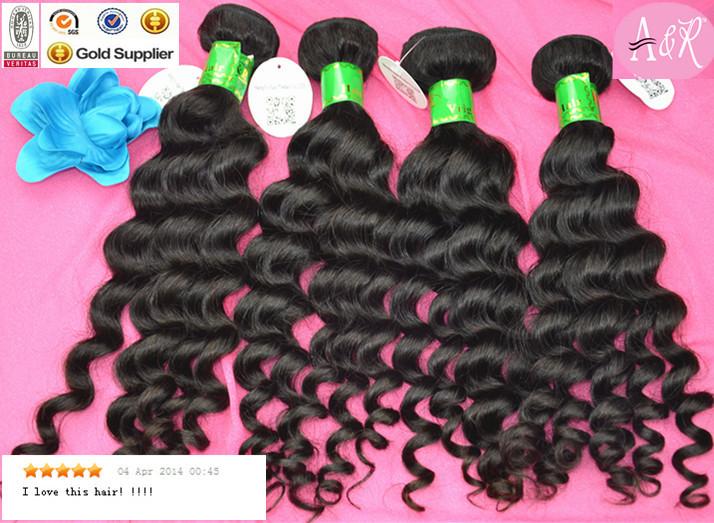 free shipping wholesale cheap good quality 3pcs/lot deep wave virgin peruvian human hair<br><br>Aliexpress