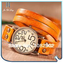 2014 Hot Selling Fashion Bracelet Ladies' Watch Women Dress Watches Quartz WristWatch for Women with Leather Strap Big Dial