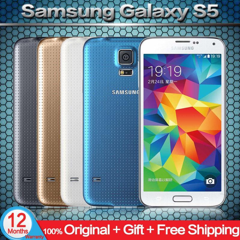 "Original Unlocked Samsung Galaxy S5 i9600 Cell Phones 5.1""Super AMOLED Quad Core 16GB ROM Android Mobile Phone Refurbished(China (Mainland))"