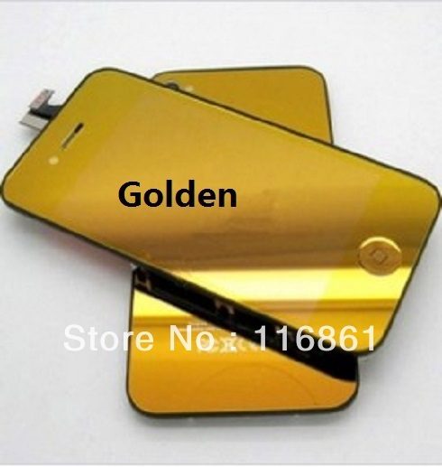 Hot Sell wholesale Complete LCD Assembly for Phone 4S LCD Digitizer Front Glass+LCD+Back Cover+Home Button polychrome