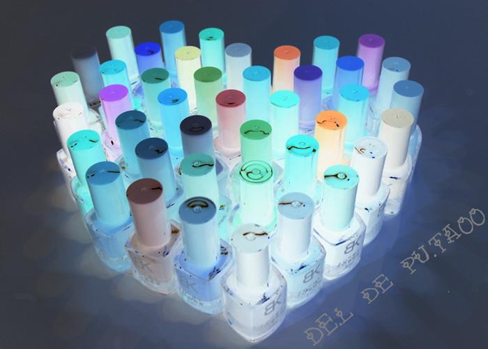 1Pcs 19 Colors Luminous Nail Polish Nail Art Luminous Paint Neon Paint Nail Varnish Lacquer Paint Nail Art NA-006(China (Mainland))