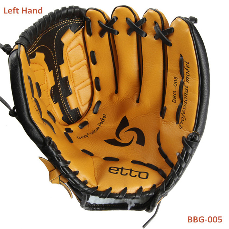 Etto BBG-005 General Baseball Glove Softball Glove Size 11.5/12.5Left Hand for Adult Man Woman Training(China (Mainland))