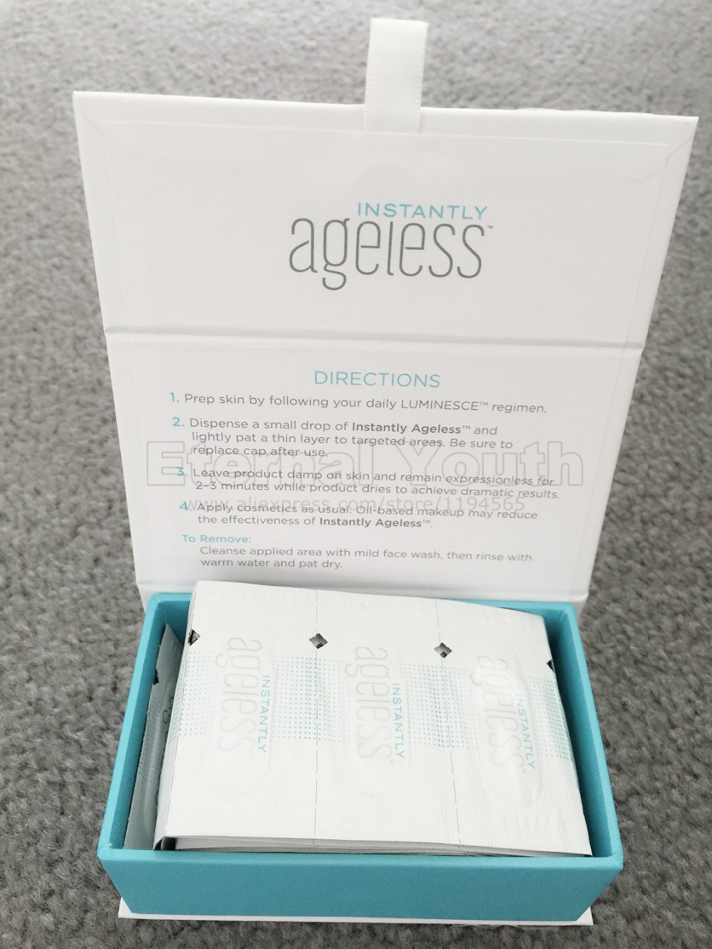 5Sachets Style of Jeunesse Instantly Ageless Without the Needles anti wrinkle microcream