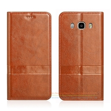 Buy Vintage Genuine Leather Flip Stand Case Samsung Galaxy J5 J510 2016 / J7 J710 2016 Leather Cover & Micro Invisible Magnet for $11.99 in AliExpress store