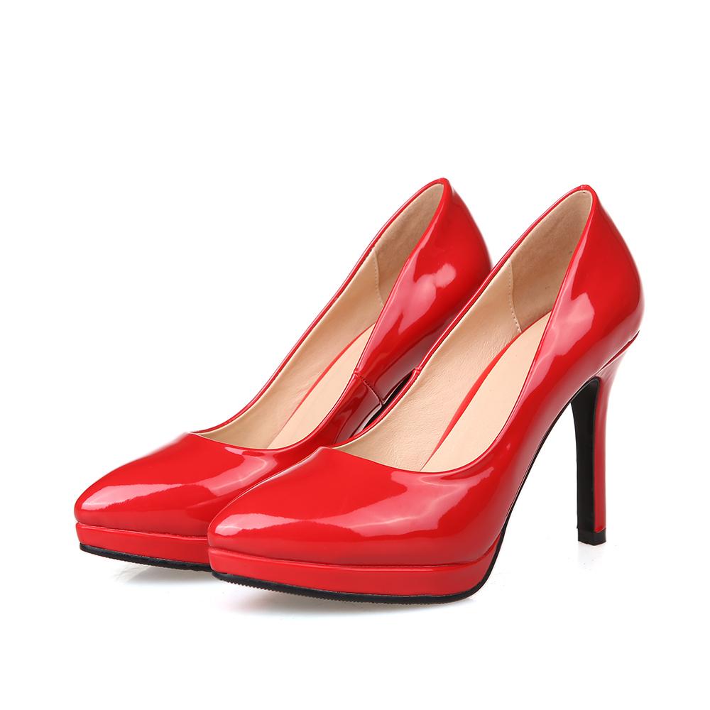 Comfortable Red High Heels