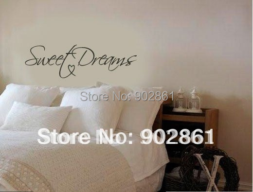 """Funlife Modern Wall Sticker-22""""x8"""" Sweet Dreams Vinyl Art Mural Wall Quote Saying decals L2012354"""
