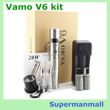 5 pcs New Vamo V6 Mod 20W with Power Bank Variable Voltage & wattage 3.0W ~ 20.0W /1.0~5.0ohm e-cigarette vamo v5 v6 starter kit