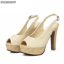 ZYZMNSYP женщина сексуальная Женщина открыть peep toe высокие каблуки сандалии дамы летняя обувь женская мода платформы сандалии женские босоножки(China (Mainland))