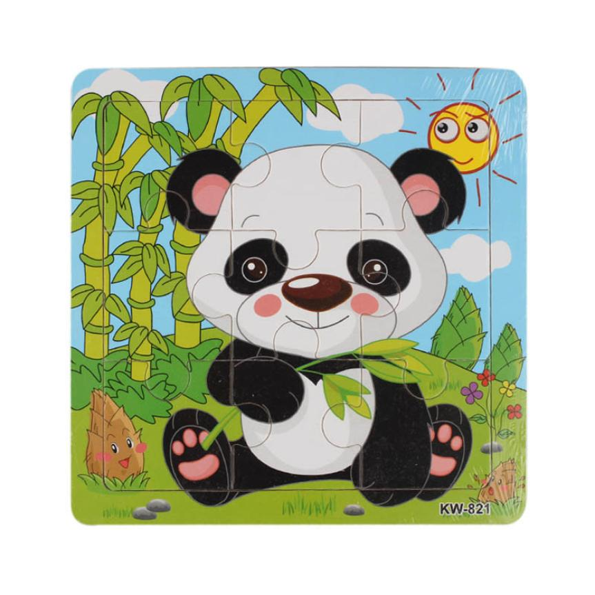 Panda rompecabezas Wooden Jigsaw Toys For children Kids Educational Toy Puzzles Brain Teaser Puzzle Kid toys Wood Puzzle toy(China (Mainland))