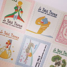 4 Sheets The Little Prince illustration Postage Stamp Stickers Scrapbooking