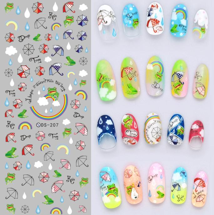 DS207 DIY Nail Design Water Transfer Nails Art Sticker