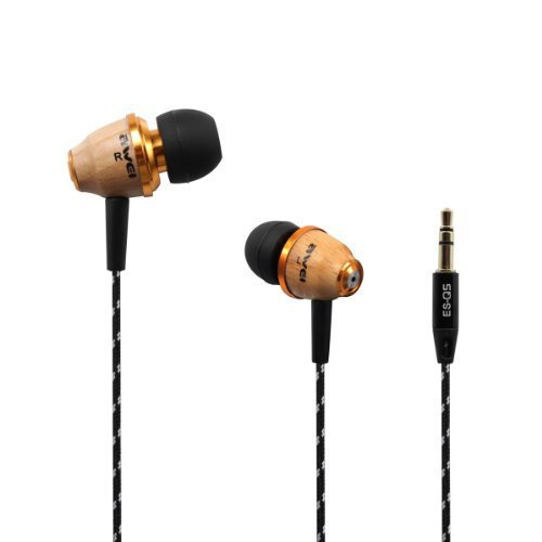Original Awei ES-Q5 3.5mm In-ear Earphones Stereo Heaphones for iPhone ipod touch MP3 MP4 .Special Wood Figure.Noise Cancelling(China (Mainland))