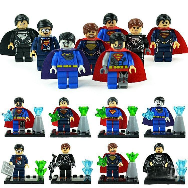 Free shipping!8pcs/lot Super Heroes Star Wars Alliance 8 design superman minifigures DIY construction brick block sets,Kids toys(China (Mainland))