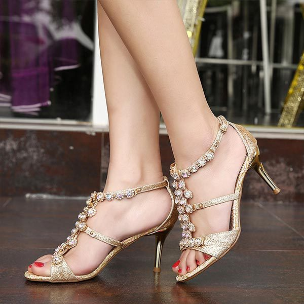 The new 2015 summer sexy womens sandals open toe simple dinner heels  womens sandals shine heels sandals D042<br><br>Aliexpress