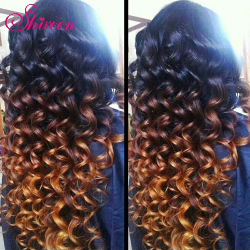 Top Quality GEM Brazilian Virgin Hair Loose Wave VIP Beauty Ombre Loose Curl 1b 30 100% Human Hair Rosa Hair Soft &amp; Full<br>