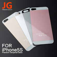 JG Tempered Glass Protective Film for iPhone 5 5S SE Cover Screen Protector 9H Hardness 2.5D Color Full Back Screen Protector