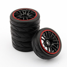 4PCS RC 1/10 Car On Road Wheel Rim Rubber Tyre Tires Fit HSP HPI 9068-6081(China (Mainland))