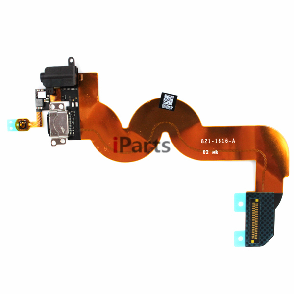 Original Charging Port Dock Connector & Headphone Audio Jack Flex Cable for iPod Touch 5th Gen Black/White(China (Mainland))