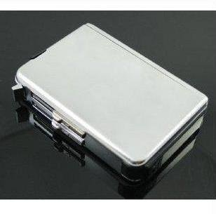 Wholesale -silver cigarette case with lighter,auto cigarette box,cigarette holder windproof lighter(China (Mainland))