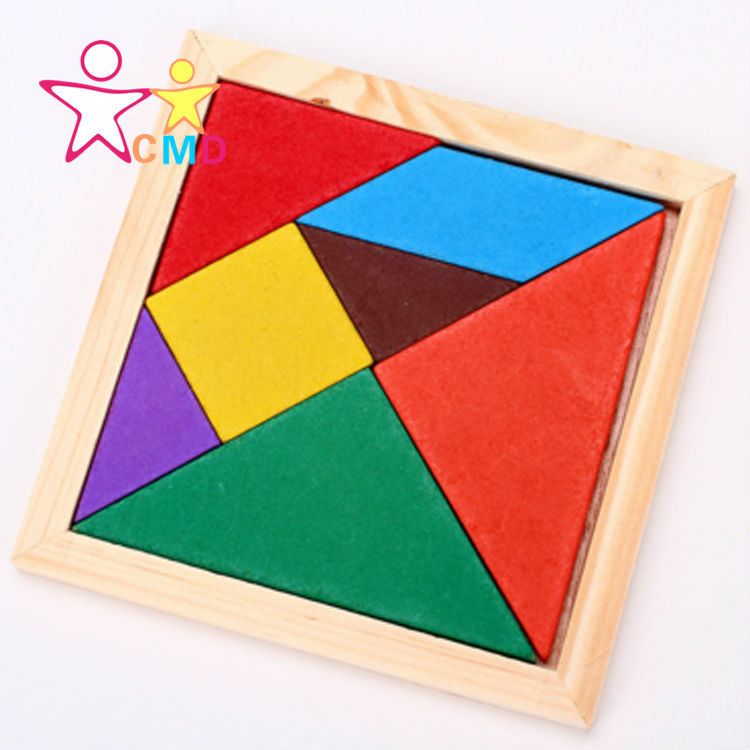 Durable 1Pcs Fashion Geometry Wooden Jigsaw Puzzle Kids Children Education Toys For Tots Baby Toy Wholesale&Free Shipping(China (Mainland))