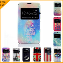 Buy Luxury Cartoon Flip PU Leather Case Cover Sony Xperia E4G E2003 Dual E2033 Case View Window Mobile Phone Shell Back Cover for $2.94 in AliExpress store