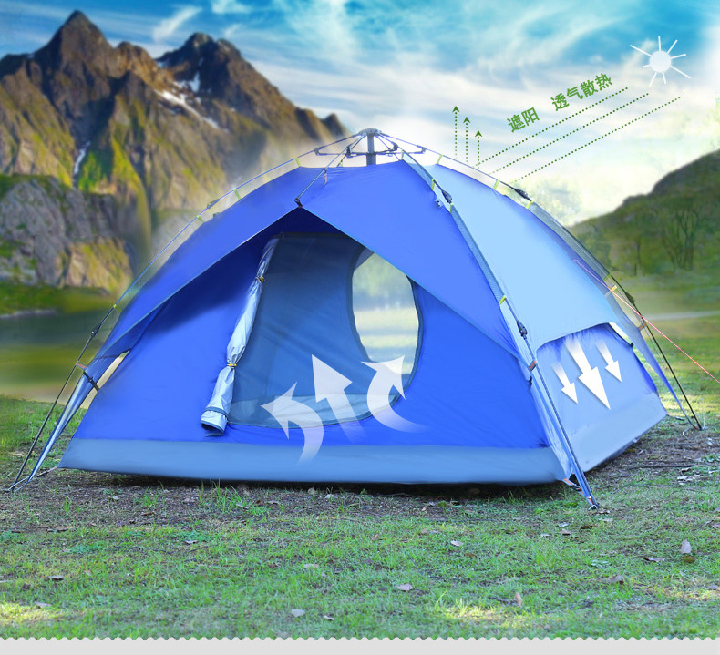 Фотография Outdoor 3-4 person double layer  automatic camping tent