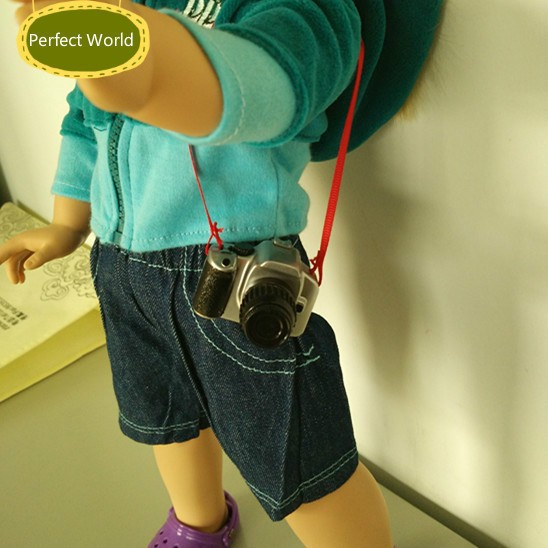 """High quality American girl doll toy camera fits for 18"""" american girl doll baby play toy handmade Doll accessories(China (Mainland))"""