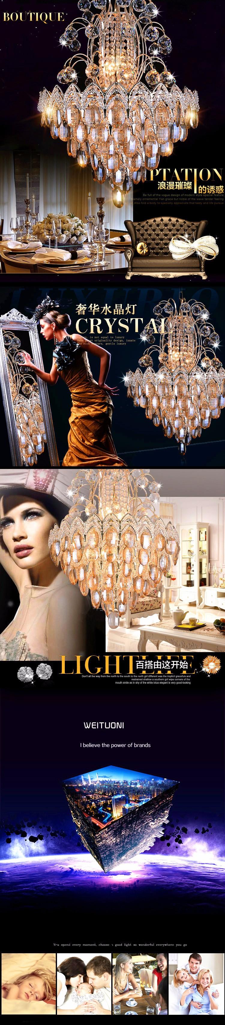 Купить Новый список Роскошный атмосфера гостиной золотые люстры хрустальные светильники спальня светодиодные лампы roundr Спальни лампа Зал