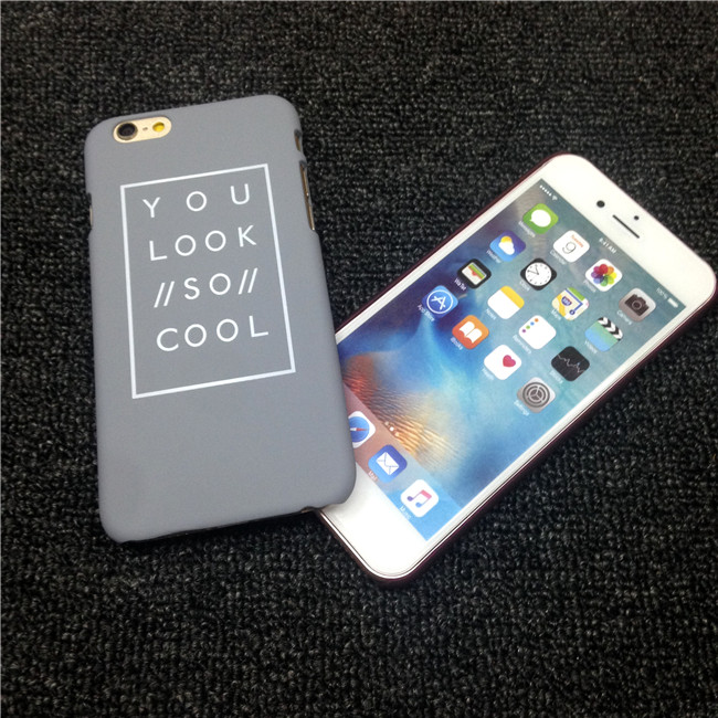 Valentine s day Gifts Phone Cases Couple Frosted PC Case for iPhone 6 6s 6plus 6splus