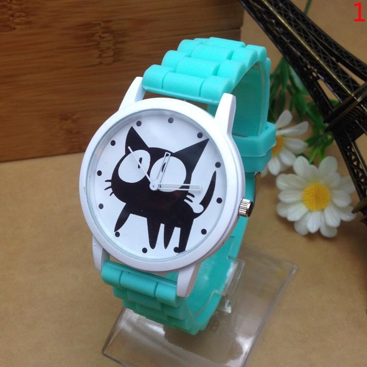 Cute Cartoon Cat Quartz Watch (10 colors)