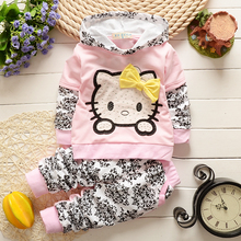 2015 new Baby Girls clothing sets Children s spring autumn clothes set kids Cartoon suit set