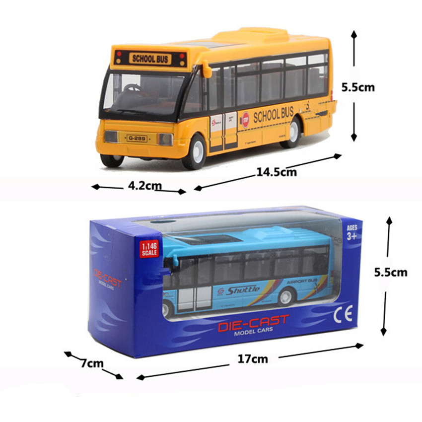 2015 Novelty School Bus Car Model Toys for Children's Birthday Gift, 3 Color City Bus Kids Toys Free Shipping(China (Mainland))