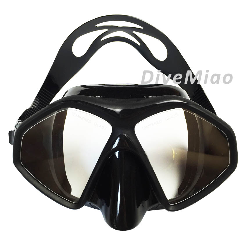Spearfishing and scuba diving BLACK mask for dive trainers ONE PIECE injection masks pool swimming mask freediving mask(China (Mainland))
