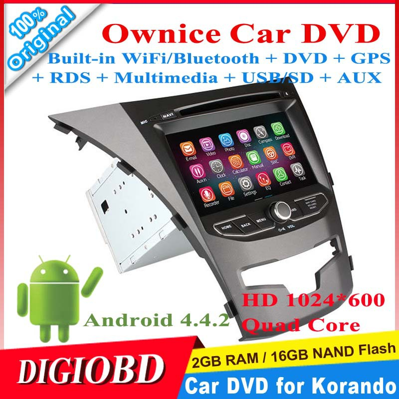 Ownice 7'' HD1024*600 Android 4.4.2 Quad Core Car DVD Player for SsangYong New Actyon/Korando 2014 2G/16G+WiFi/Bluetooth+DVD+GPS(China (Mainland))