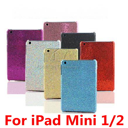 2015 Glitter Shining Diamond Bling Chrome Plating Hard Case for iPadmini Sparkle Skin Protector Back Cover For iPad Mini 1 2(China (Mainland))