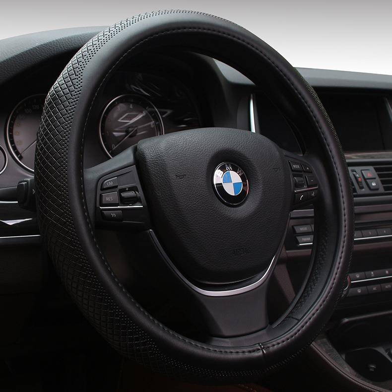 Genuine Leather Steering Wheel Cover 2015 New High Grade Leather Car Upholstery Supplies Gm