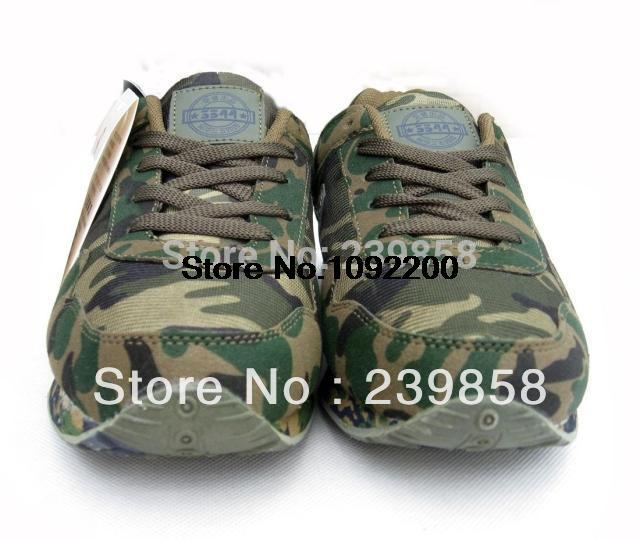 Authentic military training shoes cross country mountain / forest camouflage military training shoes sneakers(China (Mainland))