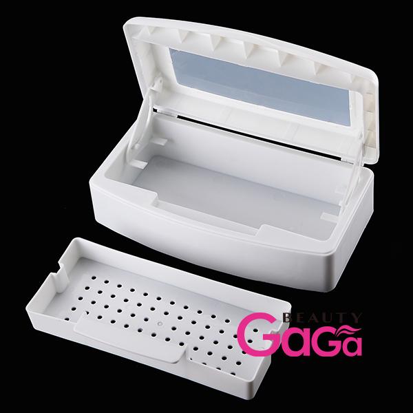 Pro Nail Art & Makeup Tools Sterilizer Box White Double Layer Sterilizing Tray Manicure Beauty Salon Equipment(China (Mainland))