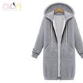 GDA Women 2016 korean fashion hood long selee big size cotton coat hoodie dress seventeen sudaderas