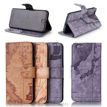 Buy Top Map Pattern Stand Flip Pu Leather Case APPLE iPhone 7 iPhone7 plus Mobile Phone Cover Card Holder Caque for $4.78 in AliExpress store