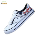Cartoon LCH Flag Pattern Union Jack Graffiti Hand Painted Shoe Male Shoes Platform for Boys Girl