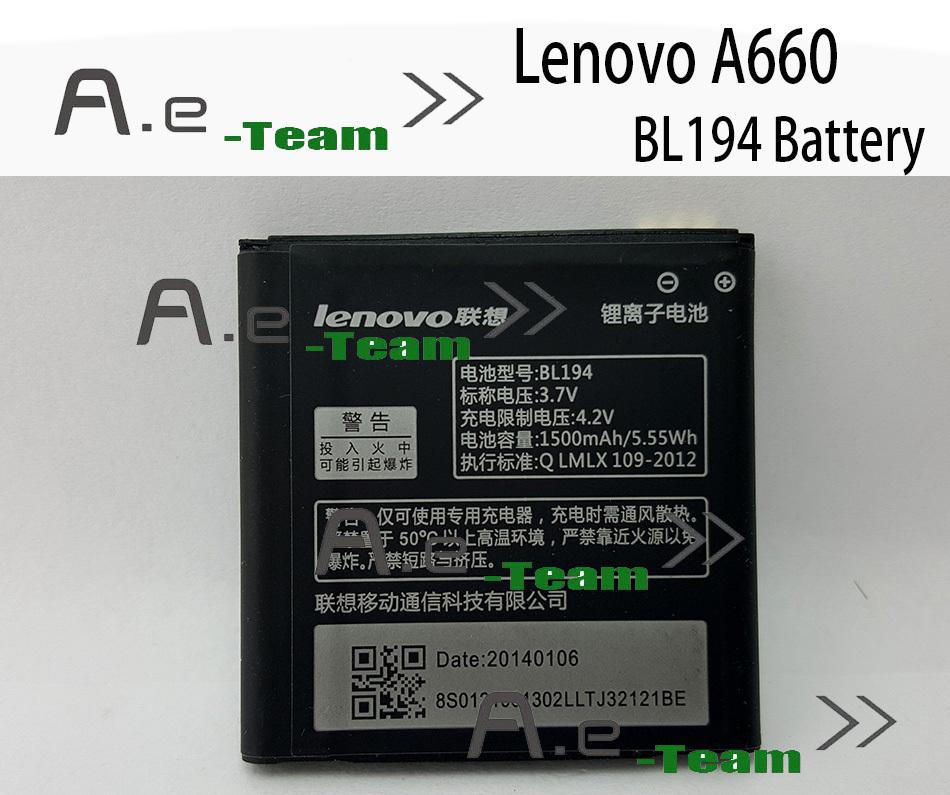 Lenovo A288T Battery New Original BL194 1500mAh Battery Lenovo A298T A520 A660 A698T A690 A370 A530