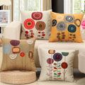 Sun Flower Cotton Linen Decorative Sofa Cushion 45x45cm 17 7x17 7 Embrace Throw Christmas Pillow Chair